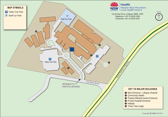 Lithgow Hospital Visitor Map