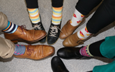 Crazy socks show support for our docs