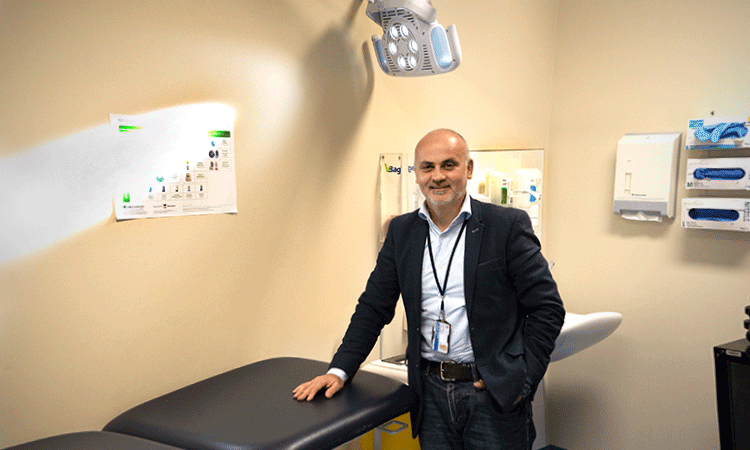 Vince Fragomeli at the Hawkesbury Liver Clinic