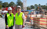 New Nepean Hospital footprint cast