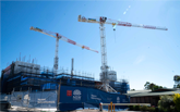 Second crane erected at Nepean Hospital Redevelopment site