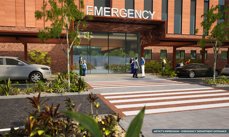 Artist impression new Nepean ED entry