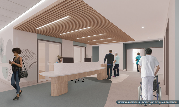 Artist impression new Nepean inpatient entry