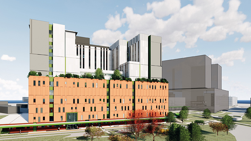 Artist impression Nepean Hospital Stage 1 Tower