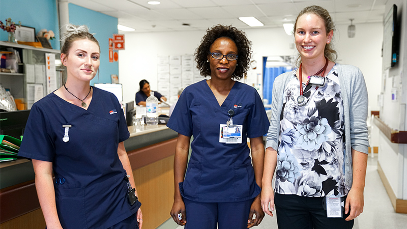 Nurses and Junior Medical Officer on ward