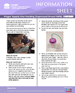 Finger Supply Line Feeding Information Sheet