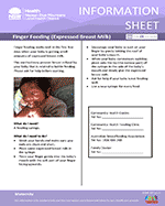 Finger Feed Information Sheet