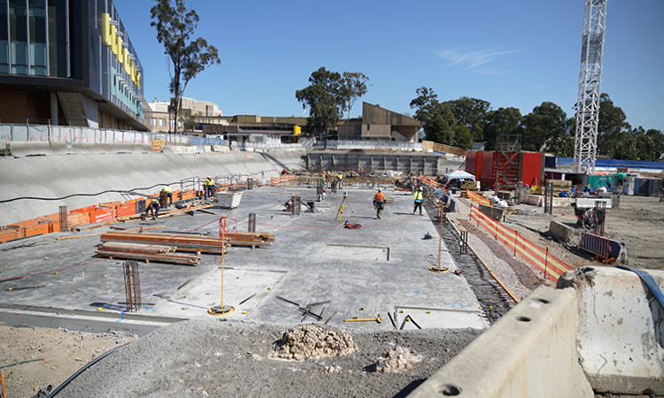 Nepean Hospital concrete foundations